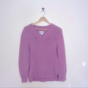 Chico's oversized pink knit sweater